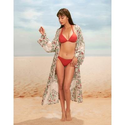 WAVE SHINE-花卉拼接蕾絲罩衫-女【B5WF037】
