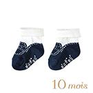 10mois 小王子反折短襪(藍)