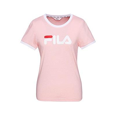 FILA 女款短袖圓領T恤-粉色 5TET-1510-PK
