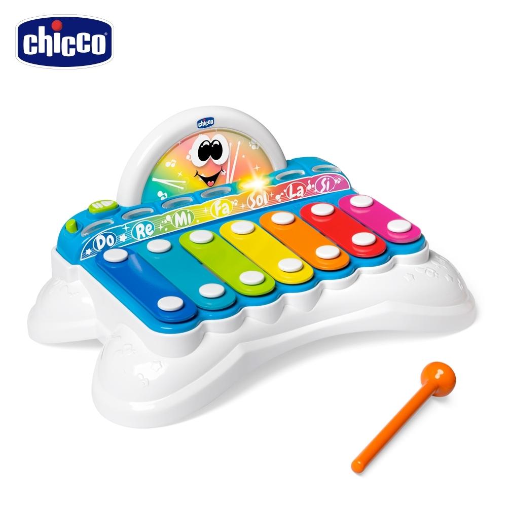 [時時樂限定] chicco-二合一聲光手敲琴