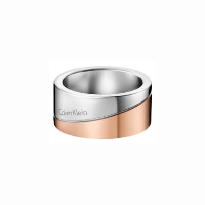 CALVIN KLEIN  Hook 系列純粹經典雙色金戒指-6