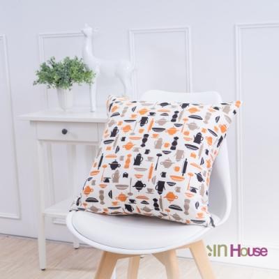 IN-HOUSE-簡約系列抱枕-咖啡綠(50x50cm)