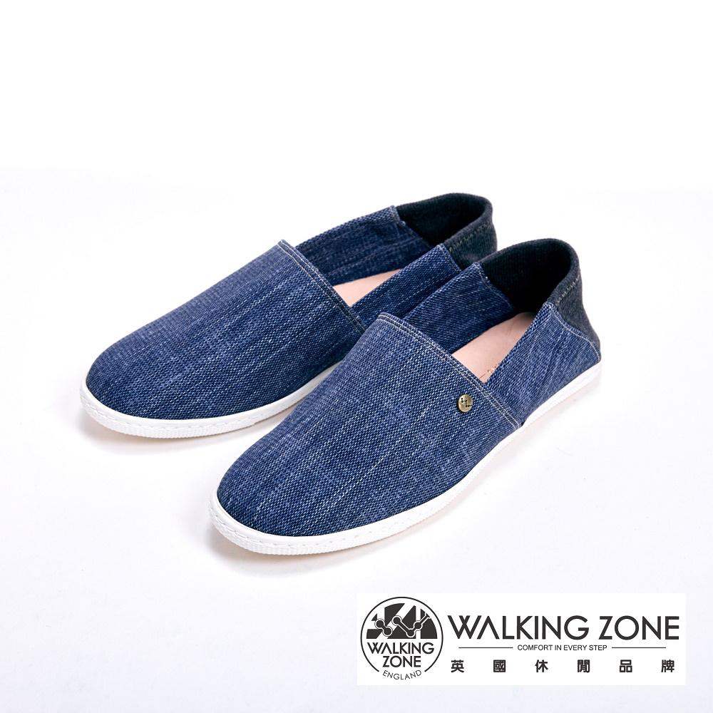 WALKING ZONE 休閒輕巧懶人鞋 女鞋-牛仔藍