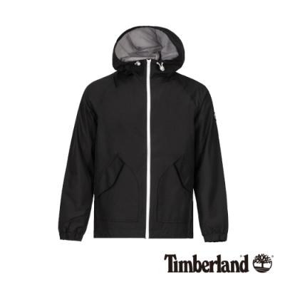 Timberland 男款黑色戶外防風連帽外套|A1OLS