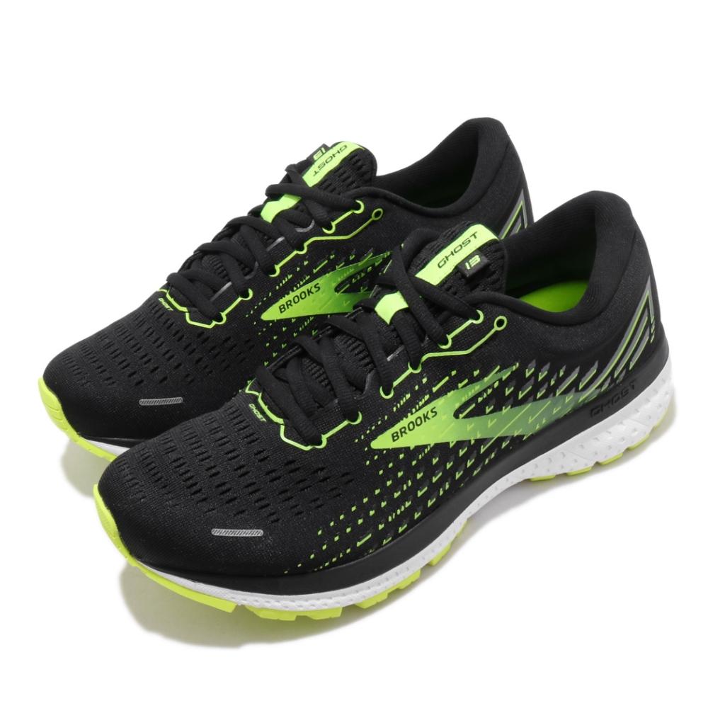 Brooks 慢跑鞋 Ghost 13 2E 寬楦 運動 男鞋 路跑 緩震 DNA科技 透氣 健身 黑 黃 1103482E039