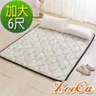 LooCa 3D超透氣雲端支撐小花款日式床墊(加大)