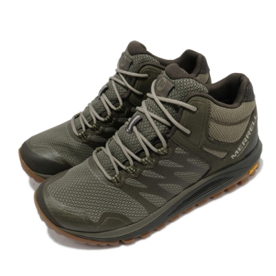 Merrell 戶外鞋 Nova 2 Waterproof 男鞋 中筒 登山 越野 耐磨 黃金大底 綠 黑 ML035581