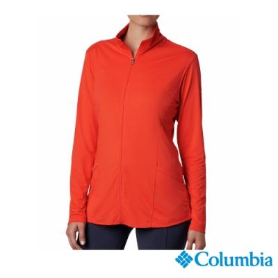 Columbia 哥倫比亞 女款-涼感快排防曬50立領外套-紅色 UAR14150RD
