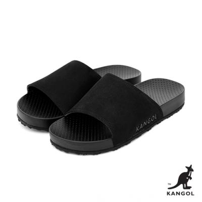 【KANGOL】英倫簡約-舒適套式拖鞋-黑
