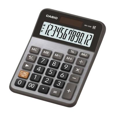 CASIO 12位數桌上型計算機-黑X灰(MX-120B)/(10入組)