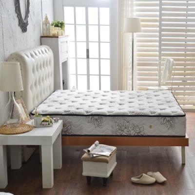 雙人5尺-飯店用乳膠抗菌+超涼感紗-護腰型蜂巢獨立筒床墊-Ally
