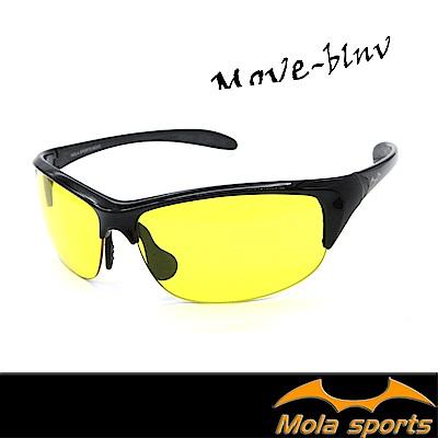MOLA摩拉超輕量夜視黃運動眼鏡 22g 男女 雨天/夜晚/霧天/陰天 高爾夫 跑步 自行