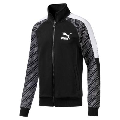 PUMA-男性流行系列T7立領外套-黑色-亞規