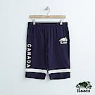 男裝Roots 雙色棉質短褲-藍