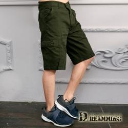 Dreamming 街頭風潮側袋伸縮休閒工作短褲-共二色