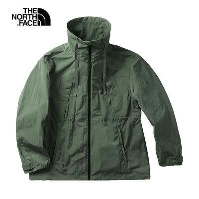 The North Face北面UE女款綠色防潑水多口袋防風外套|5JUUV1T