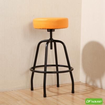 《DFhouse》麥肯基-泡棉旋轉吧椅-黃色 寬44*深44* 高67-80