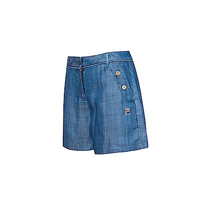 FILA 女牛仔短褲-牛仔藍 5SHS-1719-BU