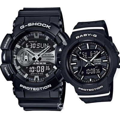 G-SHOCK & BABY-G 嶄新配色情侶對錶-51.9+42.6mm