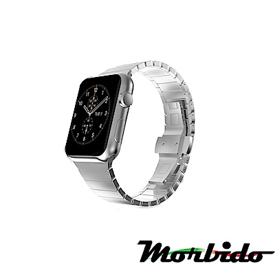 【Morbido蒙彼多】Apple Watch (42mm) 鍊式不鏽鋼錶帶