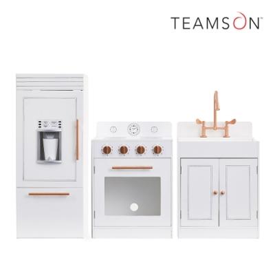Teamson 法式巴黎木製廚房玩具(玫瑰金白)