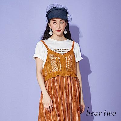 beartwo 立體感格言英文字造型T恤上衣(三色)