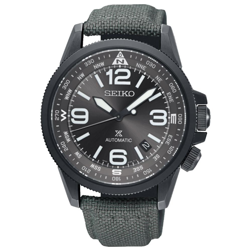 SEIKO精工 Prospex 空中行者飛行機械錶(SRPC29J1)-灰/42mm