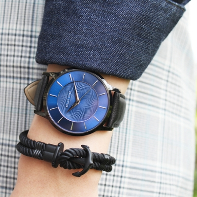 RELAX TIME Classic 經典系列 (RT-88-6M) 黑X藍/42mm