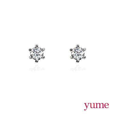 YUME - K金 3mm圓鑽耳環