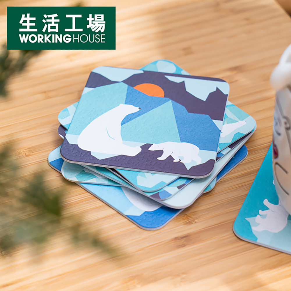 【週年慶倒數↗全館限時8折起-生活工場】GiftConcept白熊雙面紙杯墊8入組