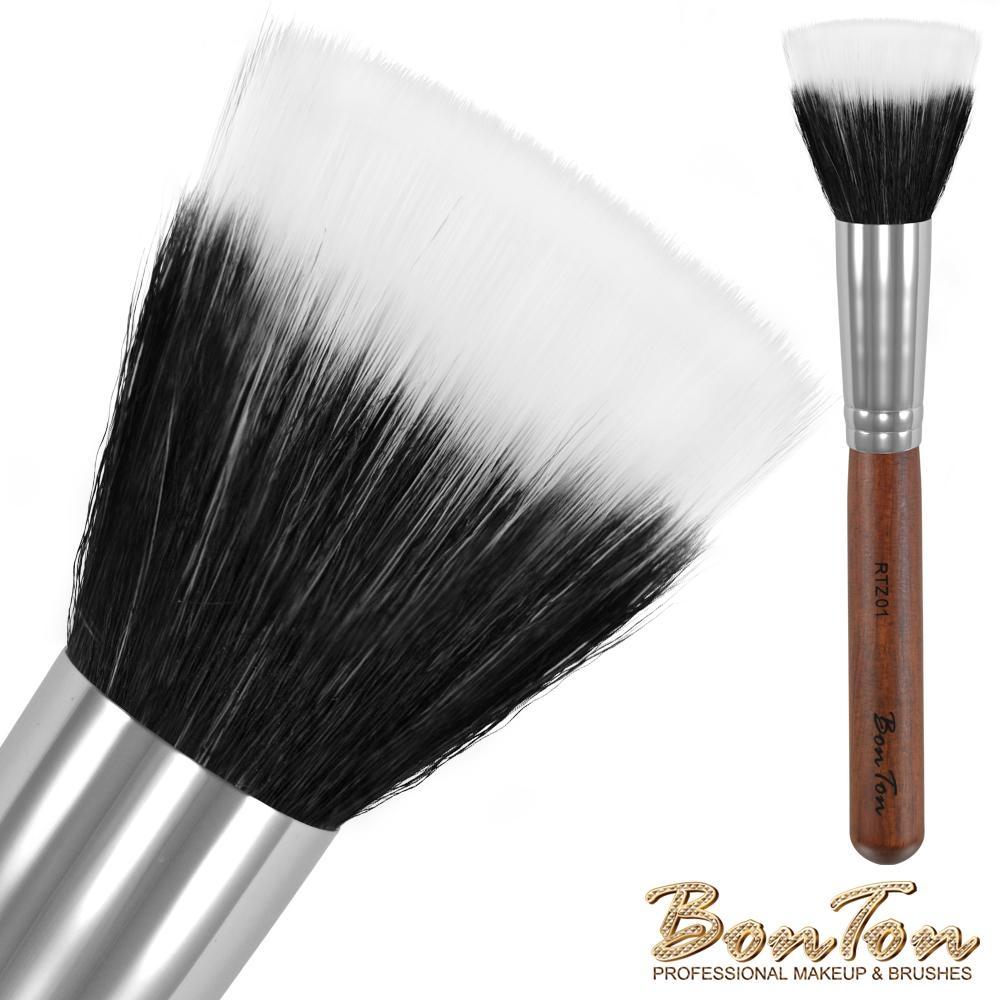 BonTon 原木系列 雙層粉底/蜜粉刷 RTZ01白尖峰羊毛混化纖