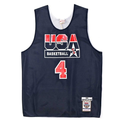 M&N Authentic球員版練習賽雙面球衣 92 Dream Team #4
