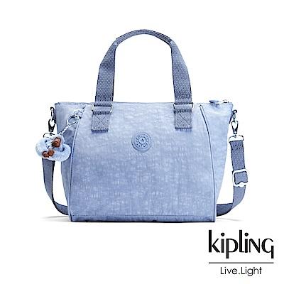 Kipling 溫柔粉藍手提側背包-AMIEL