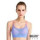 Mollifix瑪莉菲絲 高調A++零負擔舒適背心_(撞色紫藍+粉)