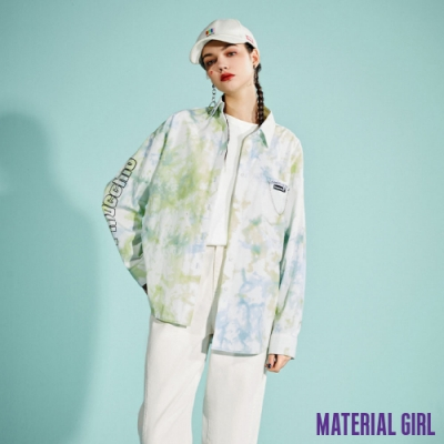 MATERIAL GIRL 皮諾丘氛圍感紮染襯衫【21春季款】-B1507C