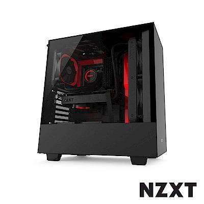 【NZXT恩傑】H500 中塔型電腦機殼-黑紅色