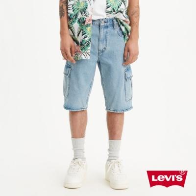 Levis 男款 重磅工裝牛仔短褲 復古水洗