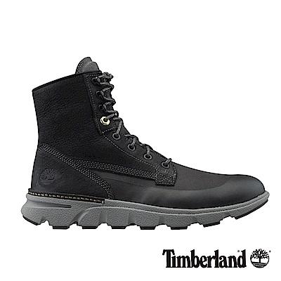 Timberland 男款深灰色絨面Eagle Bay皮革搭布面靴