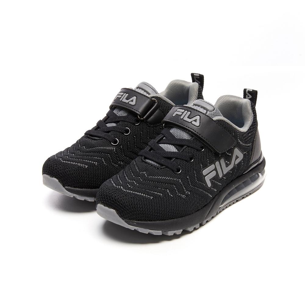 FILA KIDS 大童氣墊籃球鞋-黑/灰 3-J810V-044