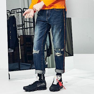 CACO-出芽款牛仔褲-情侶款-男【QNC061】