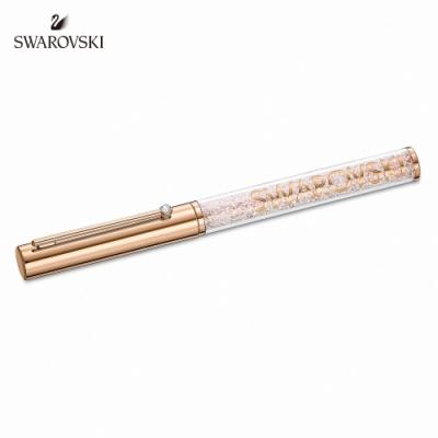 施華洛世奇 Crystalline Gloss 玫金色璀璨白圓珠筆