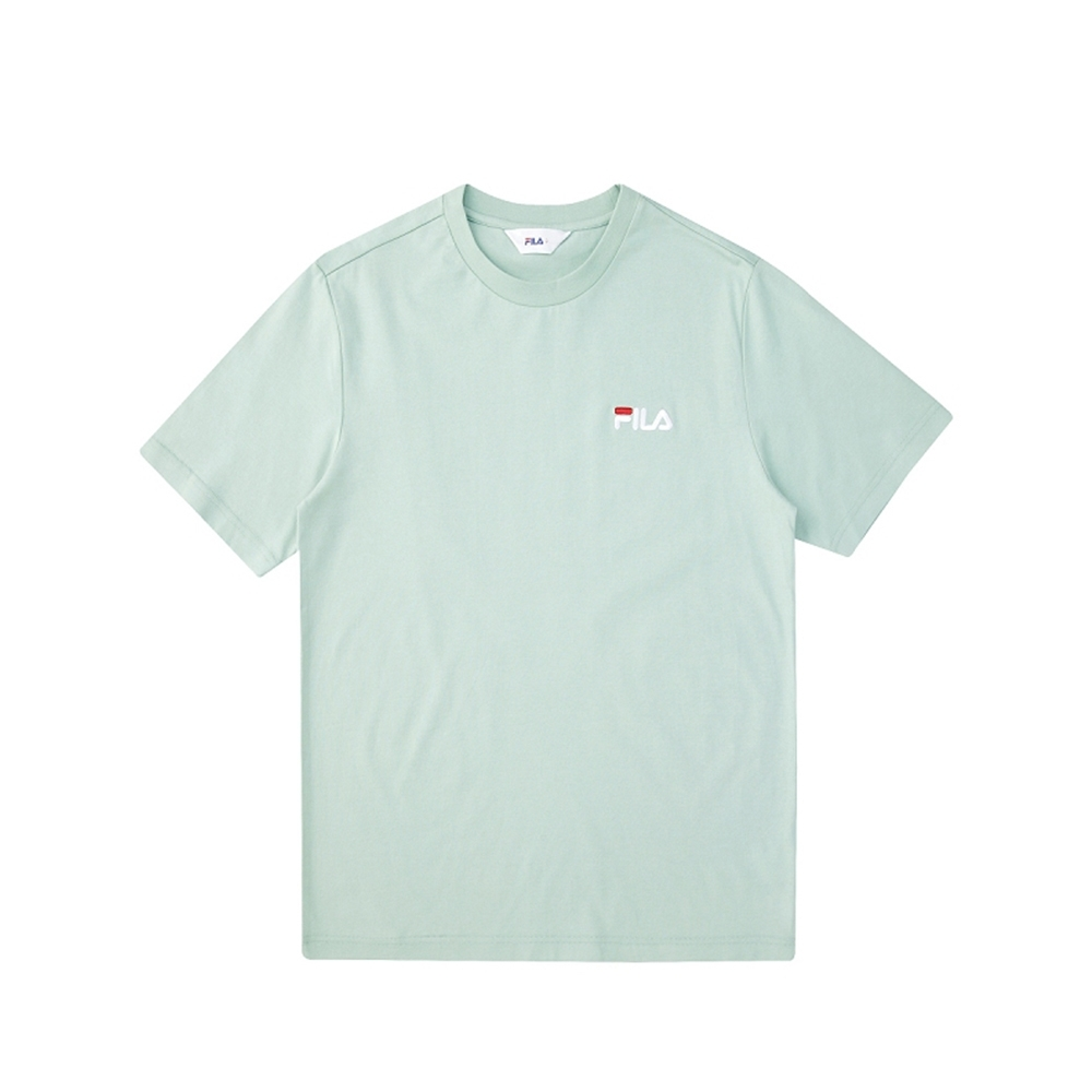 FILA 短袖圓領上衣-粉綠 1TEV-1500-LN