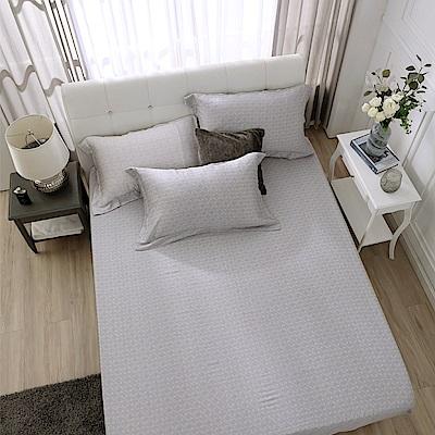 鴻宇 雙人特大床包枕套組 天絲300織 賽維爾 台灣製