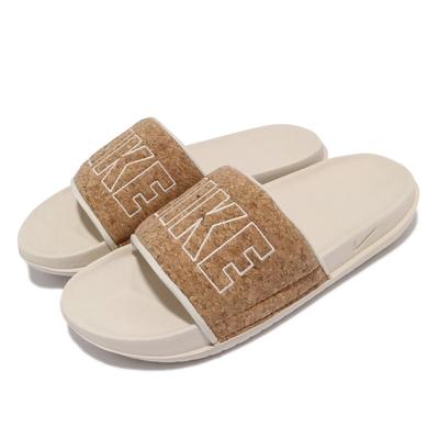 Nike 拖鞋 Offcourt SE 輕便 套腳 女鞋 基本款 大logo 軟木造型 夏日 穿搭 棕 CT0624200