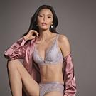 黛安芬-Premium奢華典雅系列 水感動魔術低V托高集中 D罩杯內衣 優雅紫