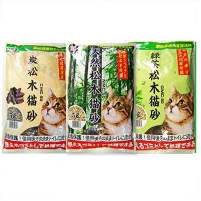 IRIS 松木貓砂 (天然/木炭/綠茶)5L/2.8kg 三包組