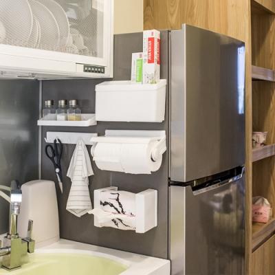 樂嫚妮 冰箱收納架/多功能/ 5合1收納架/磁吸式/廚房收納