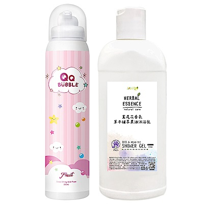 QQ Bubble 神奇好玩魔法沐浴泡泡慕斯~可以玩的泡泡慕斯-果香泡泡粉