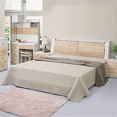 綠活居 波哥亞5尺雙人床台(三色+不含床墊)-151x217x106.2cm免組