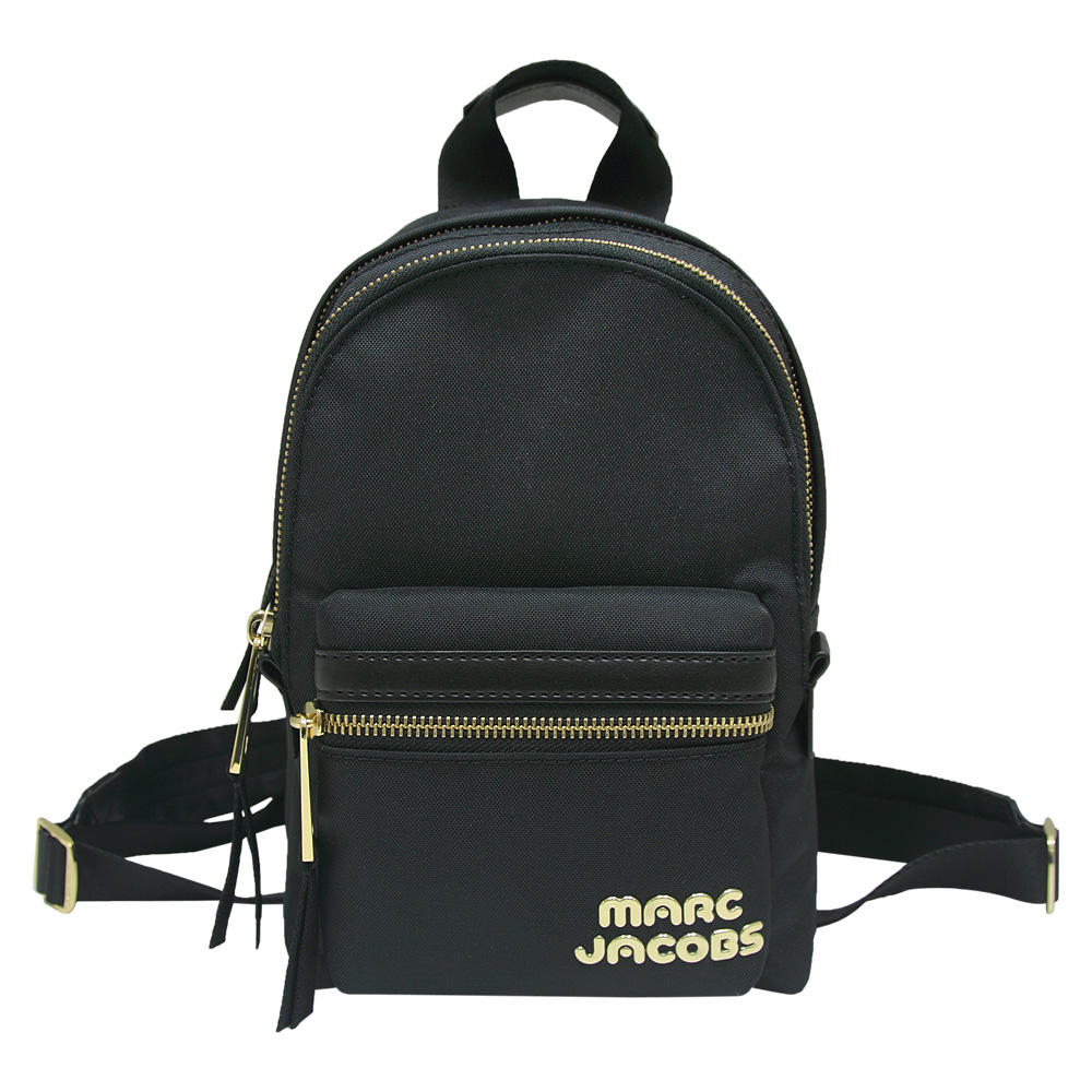 MARC JACOBS Trek Pack 雙拉鍊尼龍後背包-黑色(小)